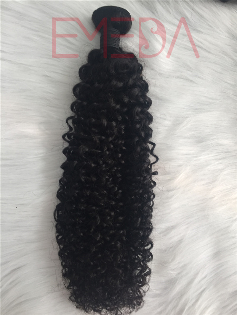 Hot Sale Deep  Curl Virgin Human Hair  Cuticle Aligned hair bundles hair weft YL251