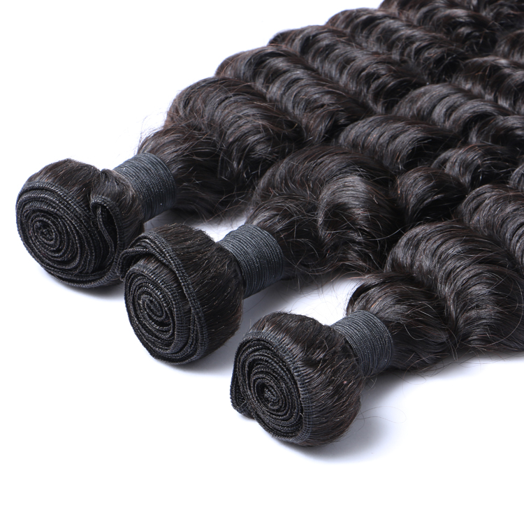 Real Virgin Human Hair Extensions Curly Weave Peruvian Hair Weaving     LM126