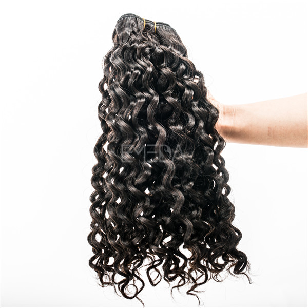 Grade 7A indian deep curly black people hair extensions YJ52