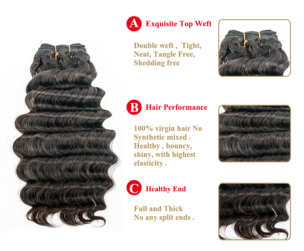 Double weft high quality  100% remy hair extensions YL119