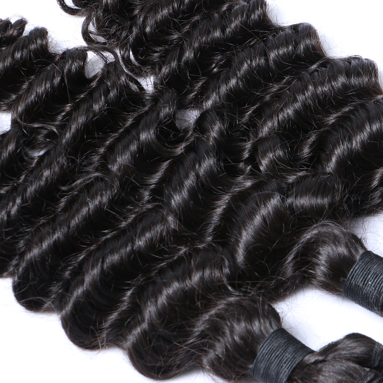 Unprocessed weaving deep wave hair extensiosns factory price YL084