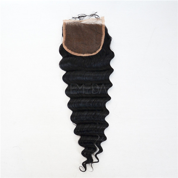Grade 5A indian deep wave weave with lace closure YJ165