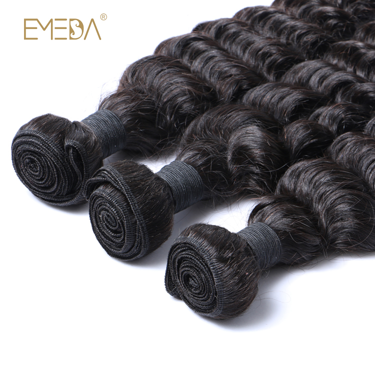 Hair Weave Pure Deep Wave Brazilian Virgin High Quality Cuticle Aligned Hair Mink YL163