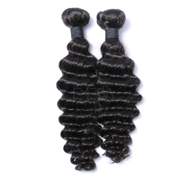 Fast delivery virgin Brazilian human deep wave hair extensions    LM014
