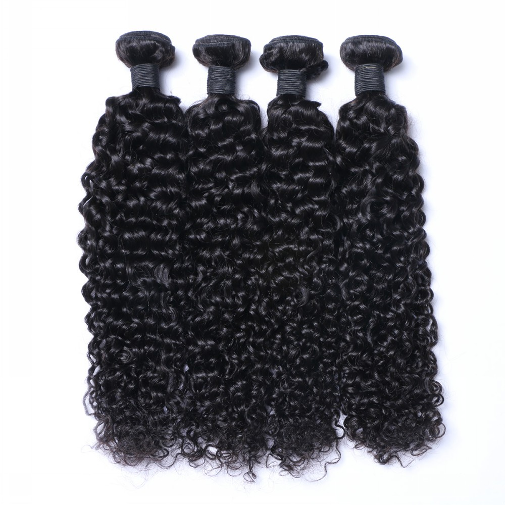 Quality Bundle Wholesale Price best  Deep Curly Weft Hair Extension WK046