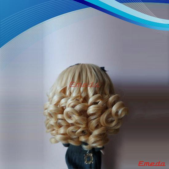 brown doll hair wig
