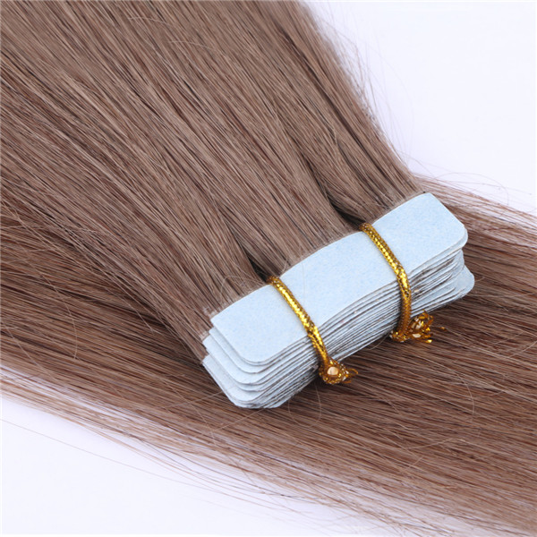 Top quality Virgin remy russian hair double drawn best human hair tape hair in extensions XS078