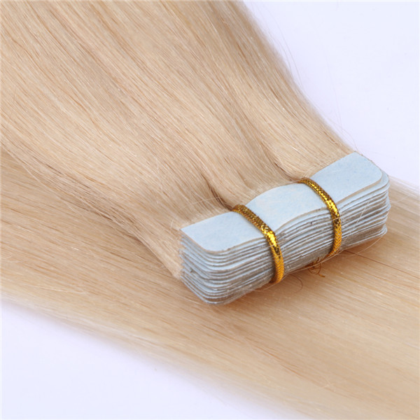Tape in blonde hair extensions manufacture factory China XS093