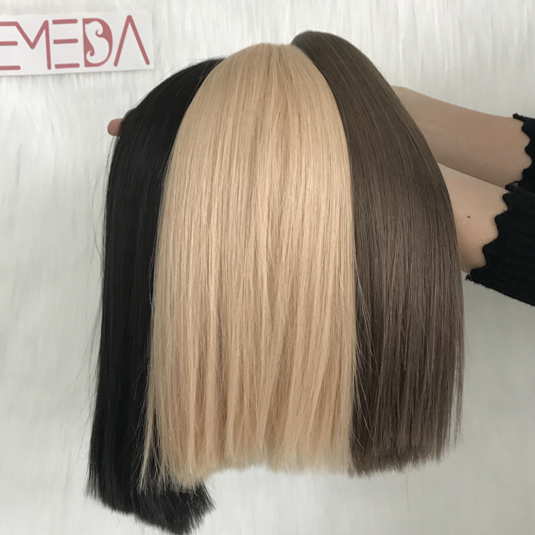 china remy double drawn tape in hair factory blonde brown off black yj282