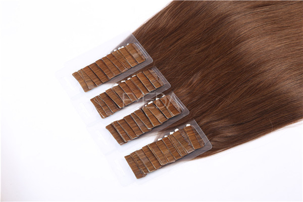Double drawn remy hair tape in hair extensions ZJ0071