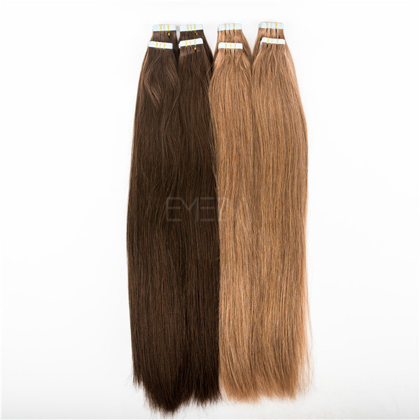 double side tape in hair extensions dark brown lp