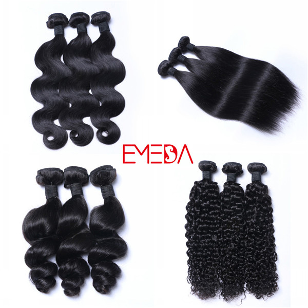 Natural raw virgin mink brazilian remy kinky curly human hair weave extension bundles weft YL235