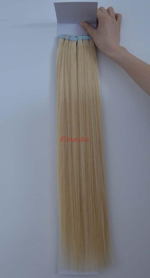 2014 new style brazilian tap in human hair extensions blonde