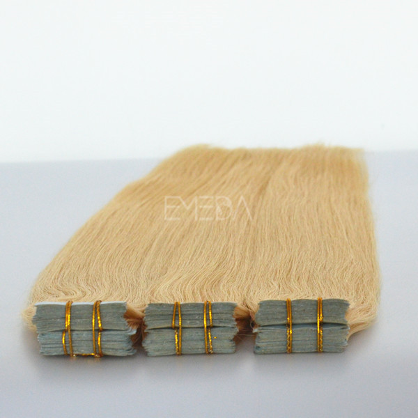 Juancheng factory double drawn tape hair extensions #8 ---lp100