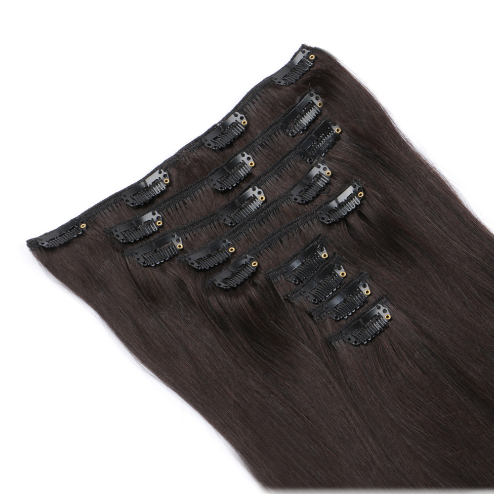 Clip in 100 human hair extensions real hair SJ00138