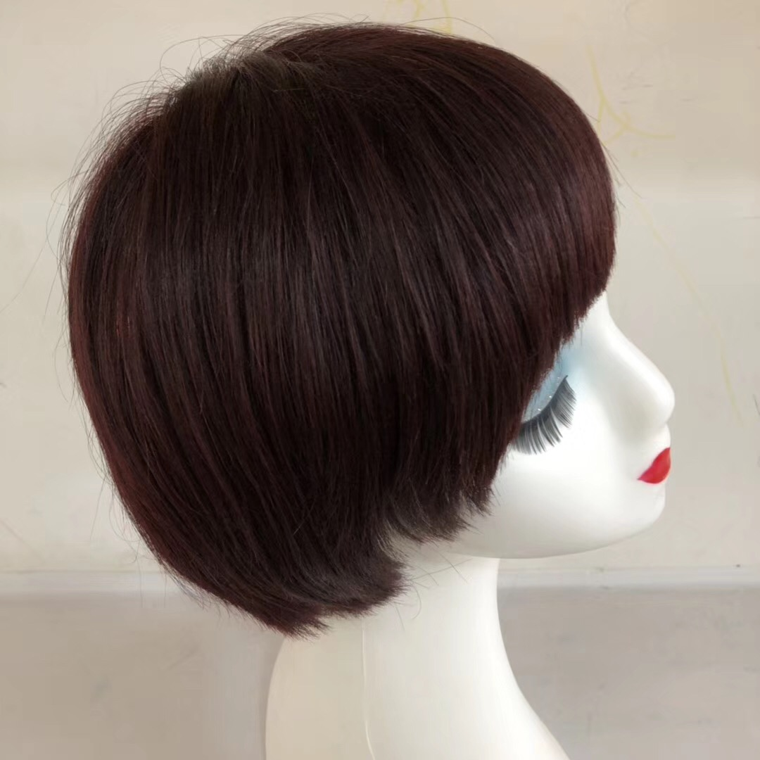 Short Hair Wig Bob Style Red Front Lace or Full Lace WK011
