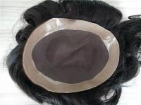 Fine mono base hair system for men hair toupee with large in stock QM064