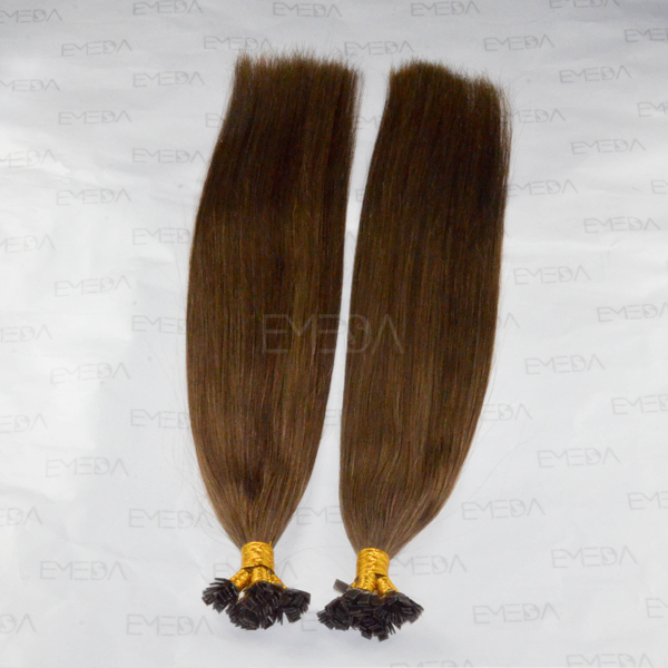 dark color straight flat tip peruvian hair extension CX039