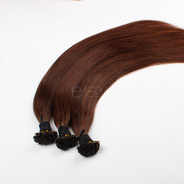 Prebonded Keratin Remy Human Hair Brazilian Flat Tip Hair Extensions  LM123