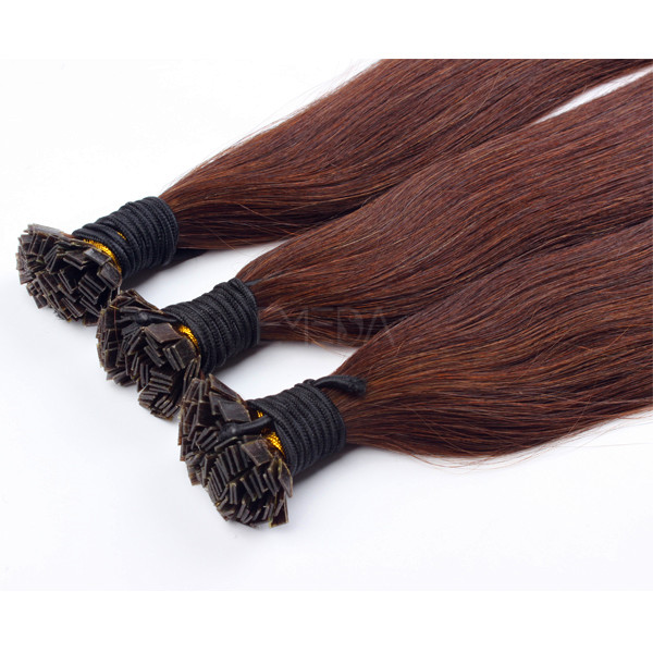 China Hot Fusion Hair Extensions Suppliers Wholesale Flat Tip Factory Hair Extension LM404