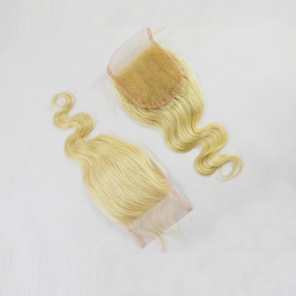 Blonde human hair with closure,blonde bundles with closure,brazilian hair bundles closure  HN269