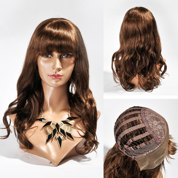 Unprocessed vigin remy hair brazilian lace front wig with pre plunked hairline HN139