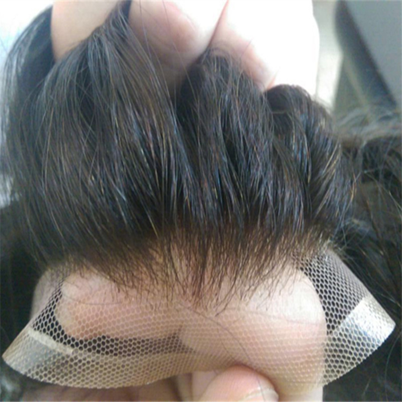 Front Lace Toupee Indian Hair Can Be Cut Best Selling WK056