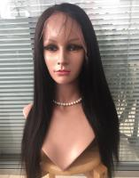 Full lace wig with silk base Yaki straight 100% virgin hair 20inch YL171