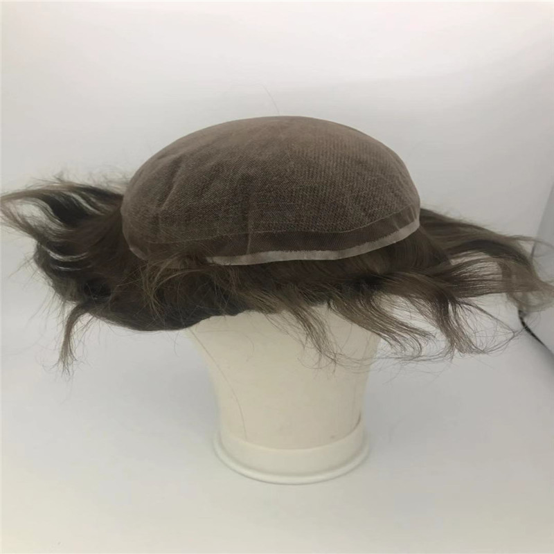 Chocolate Brown Number 4 Full Lace Base Toupee Water Wave WK087