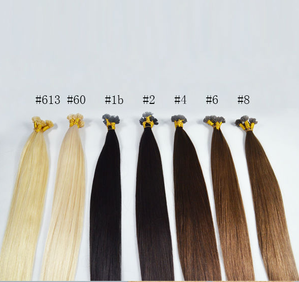 Flat Tip Glue Hair Extensionpre Bonded Human Hair Extension Xs022