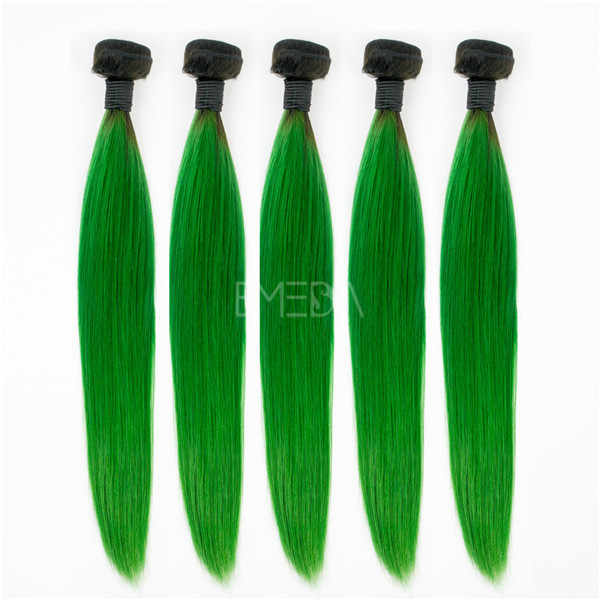 Worldwide wholesale Brazilian green hair extensions brands EMEDA YJ177