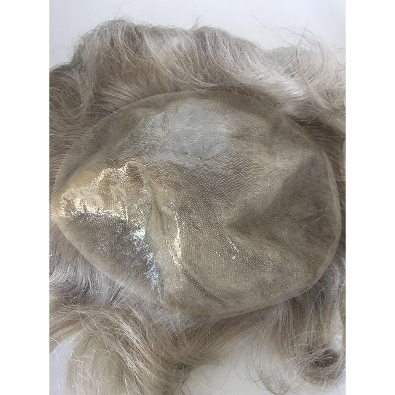 grey hair toupees human grey and synthetic hair in stock YL430