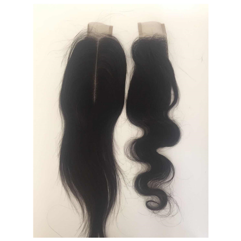 100 virgin hair 2x6 inch closure middle part straight and wave closure YL273