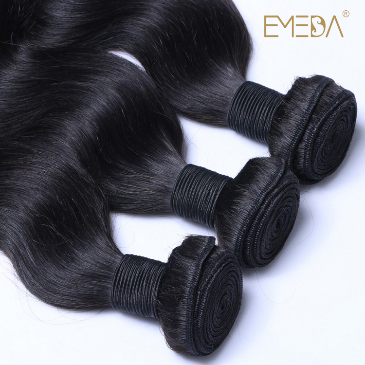 Unprocessed Human Hair Bundles With Closure Body Wave Virgin Peruvian Hair Weave  LM308