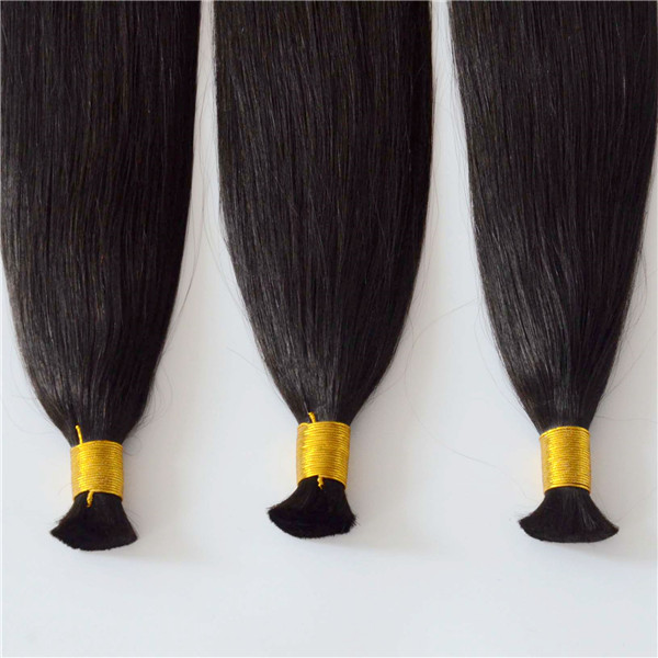 bulk virgin human hair extensions double drawn full ends hair YL326