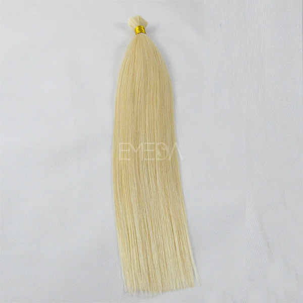 100% loose human hair bulk extension blonde straight bulk hair CX027
