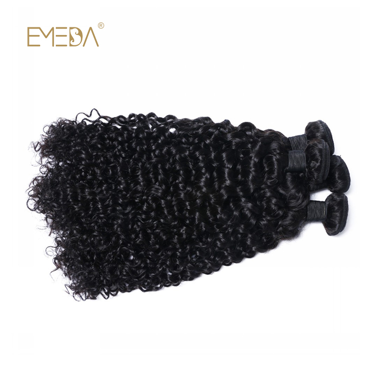 Peruvian Curly Hair Weave Virgin Hair Extensions Weave Hair Piece  LM386