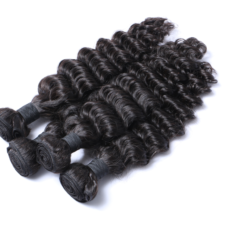 Original Virgin Healthy Human Hair Weave Malaysian Curly Weave Cost-effective  LM128