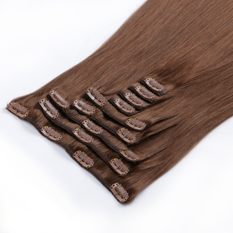 real hair extensions clip in double drawn wholesale factory price LL-003