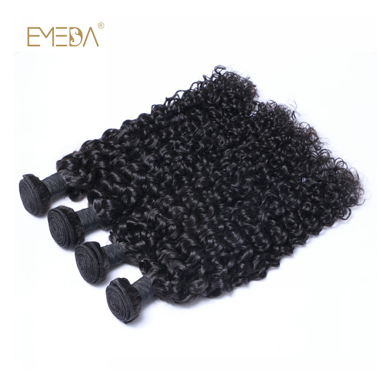 100 Real Human Remy Hair Curly Human Hair Weave Double Weft Machine Sewing Hair Bundle LM402