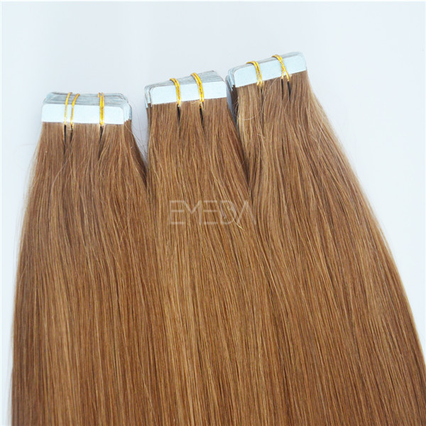 Grade 10A double draen Peruvian human hair tape extensions YJ104