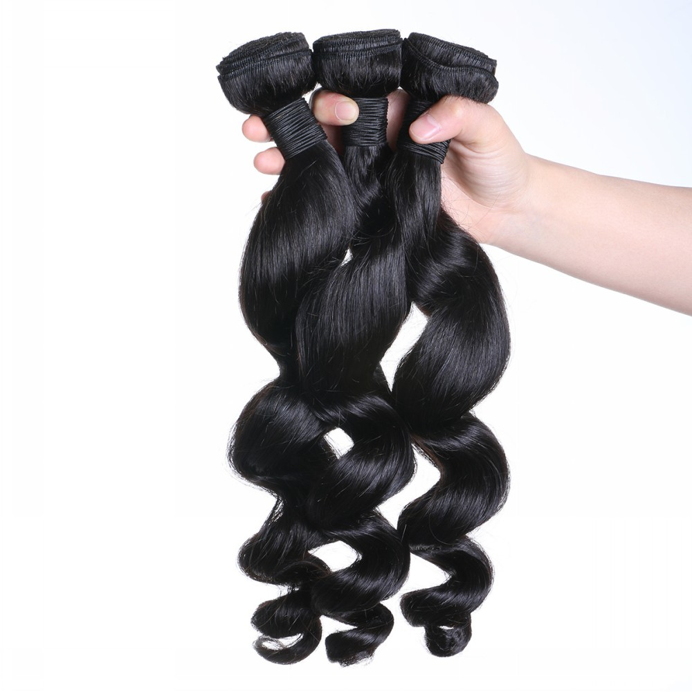 Factory stock malaysian hair weave  JF073