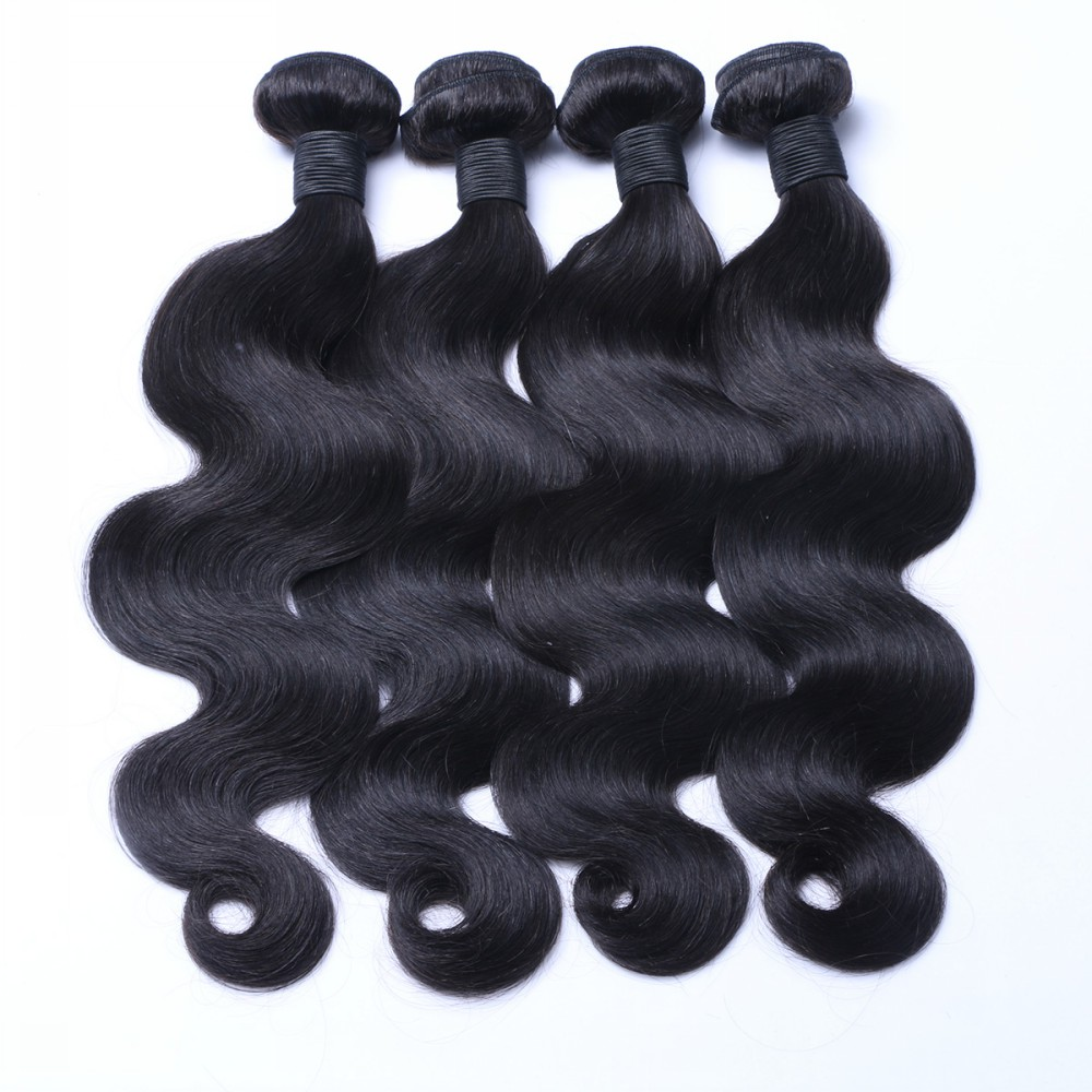 Body wave hair weaving  100% human hair  virgin hair natural peruvian human hair YL003