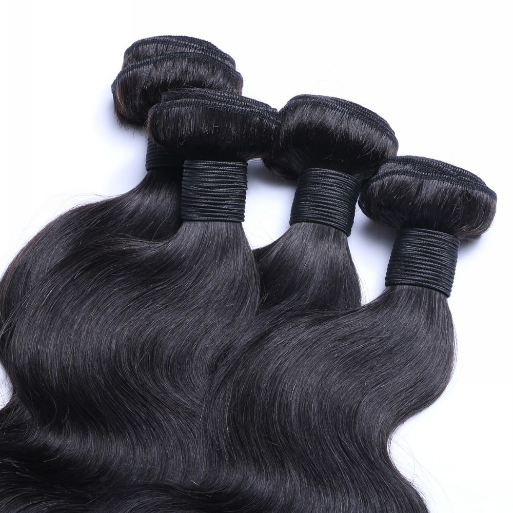 Loose wave 20 inch brazilian hair weave body wave human weaves with lace closure 3 bundles virgin one HN106