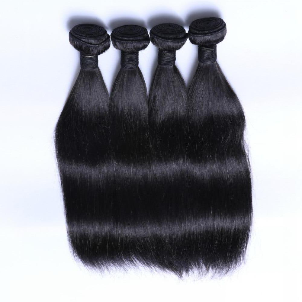 silk straight hair weave and virgin hair YL013