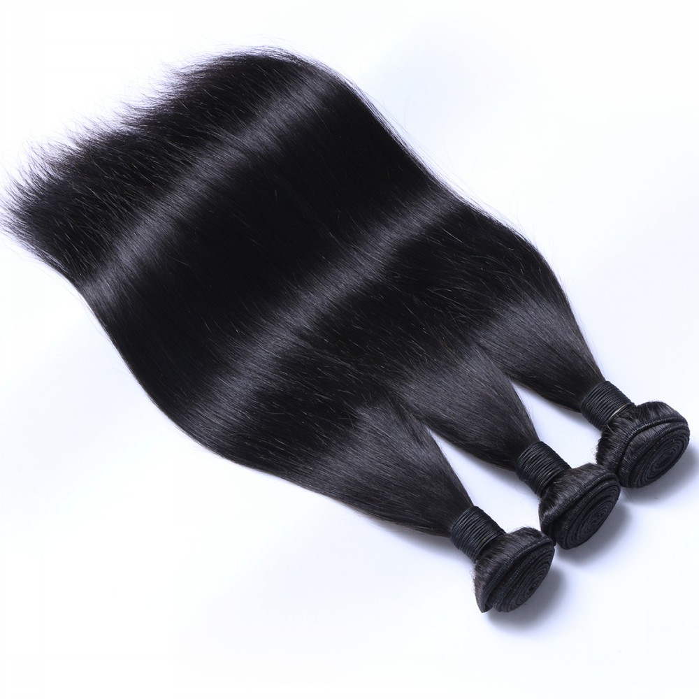 Direct Factory Wholesale Double Weft Virgin hand tied Brazilian Hair weft HN105