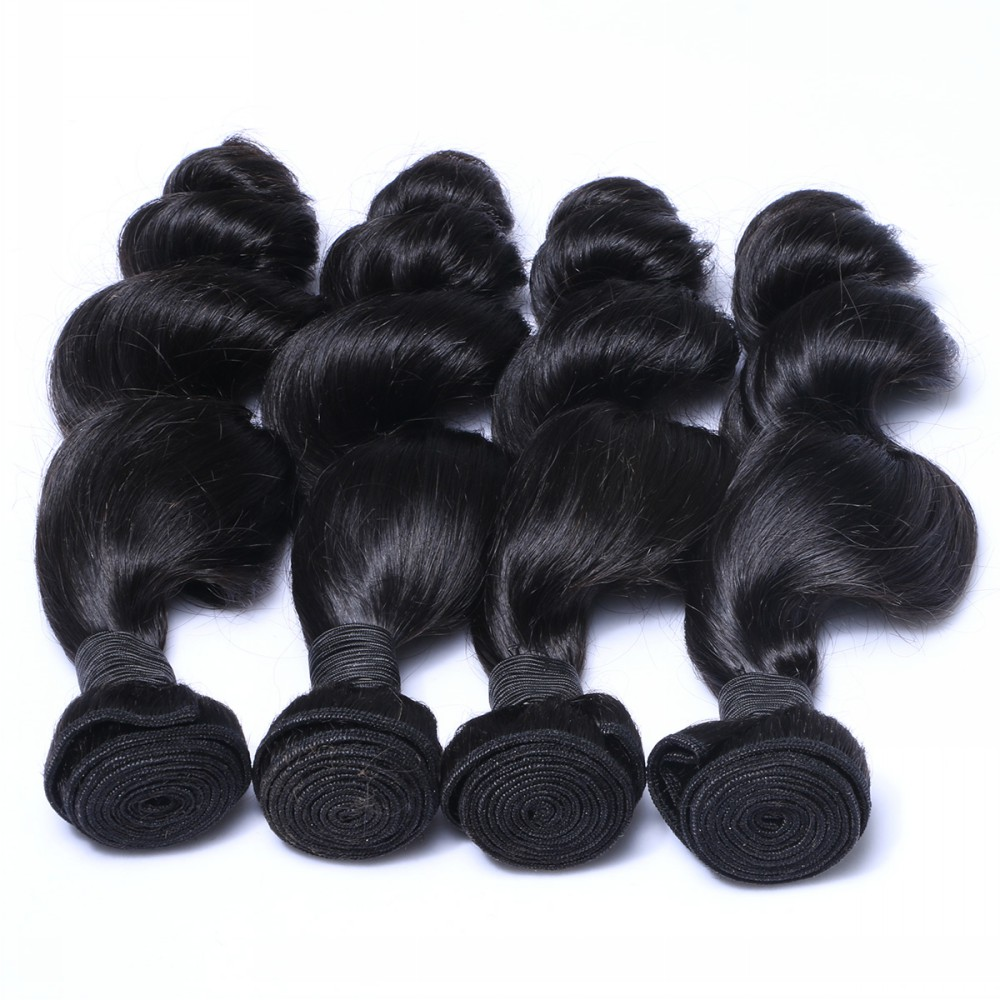 Jerry curl human hair weave,human hair weave bundles straight,bouncy curly human hair weave HN259