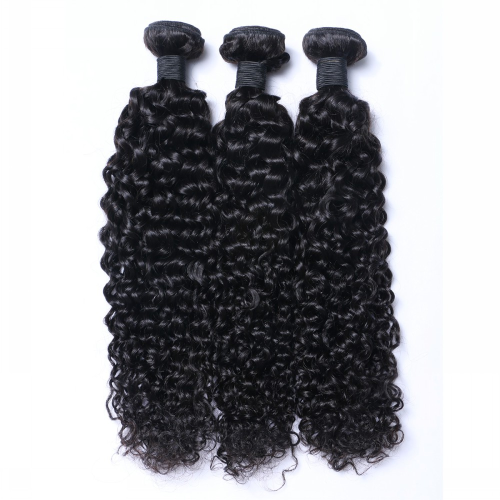 Kinky curl sew in hair weave and virgin cuticle aligned hair YL048