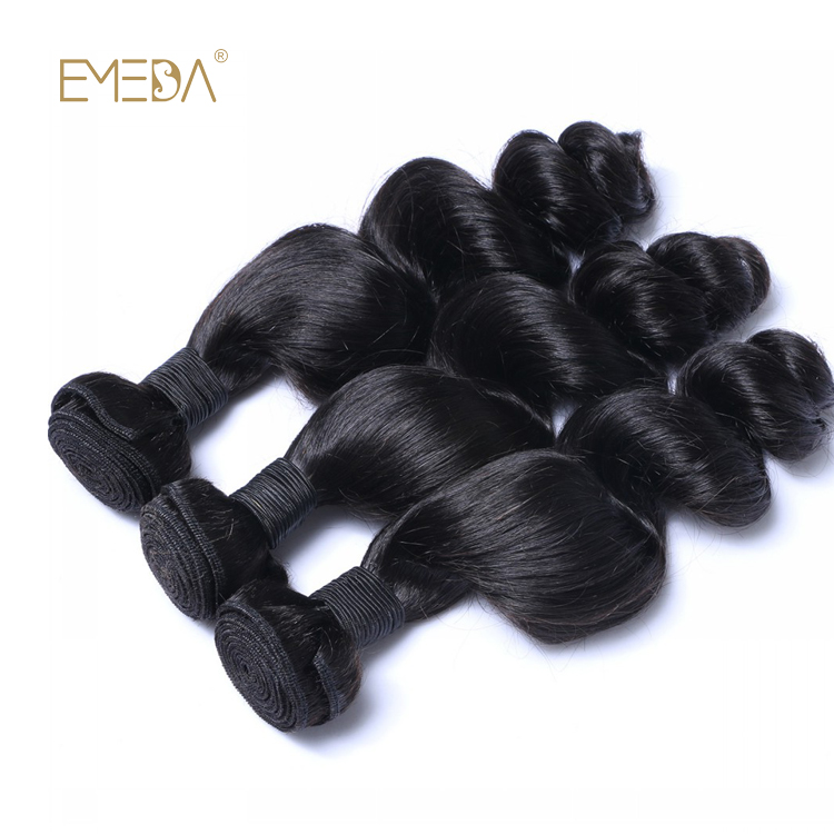 Raw Indian Human Hair Virgin Bundles Loose Wave Unprocessed Hair Weft LM324
