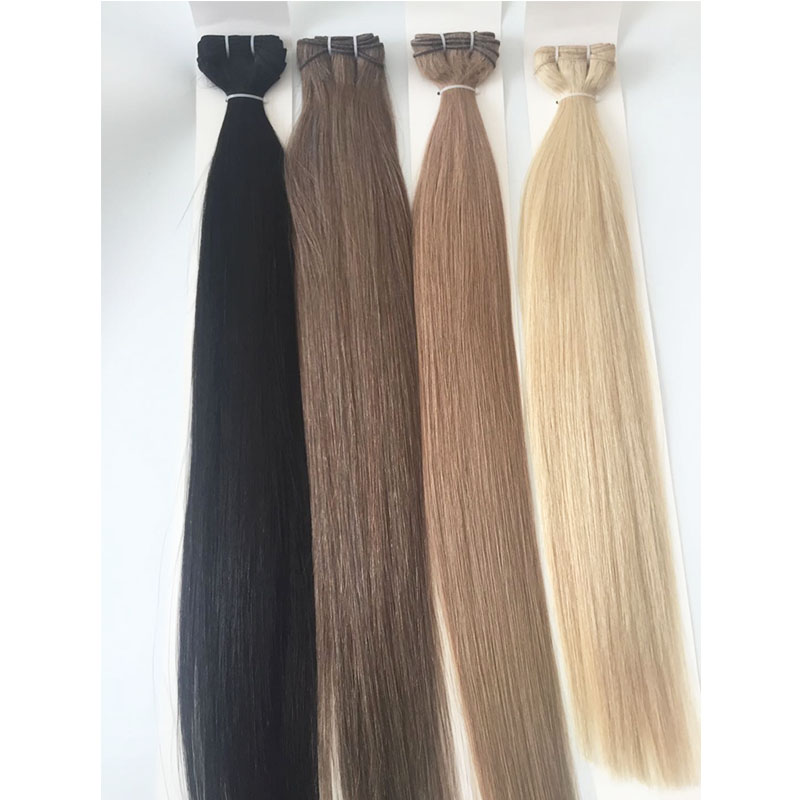 24inch 22inch Hair Weft Hair Bundles Double Wefted Human Hair Straight Full Head Color black Brown  Remy Hair 100gram Per Pack YL308